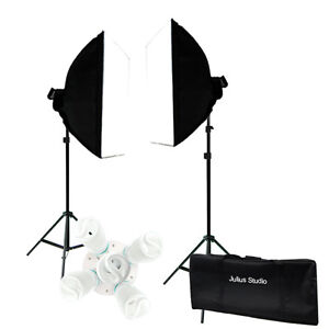 2000w Photo Studio Video Continuous Lighting Kit Photography Softbox Light Stand