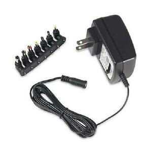 RCA 500mA Universal AC to DC Power Adapter with 7 Tips - Black - AH50BR