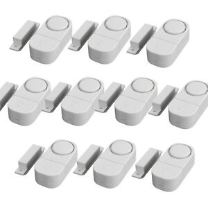 10Pcs WIRELESS Home Door Window Burglar Security ALARM System Magnetic Sensor