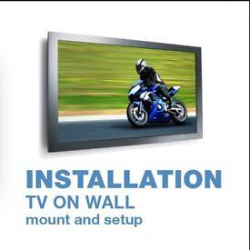 Tv on wall mount bracket