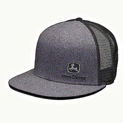 Emo Hats (JOHN DEERE CHARCOAL FLAT BILL SIDE LOGO TRUCKERS PUNK EMO HAT CAP )