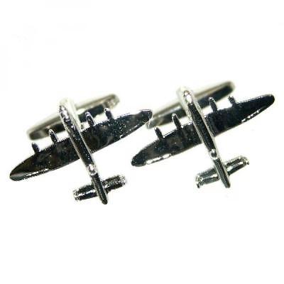 Lancaster Cufflinks - Lancaster Bomber Aeroplane/Airplane Cufflinks