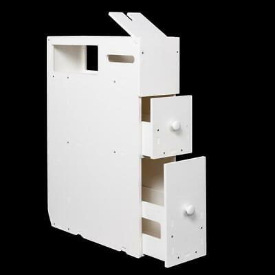 Slim Bathroom Storage Cabinet Rolling Floor Standing Narrow Cupboard W/ Drawers