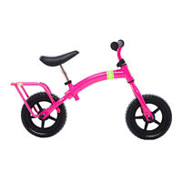 Balance Bike - YUBA flip flop, pink - like strider but grows!