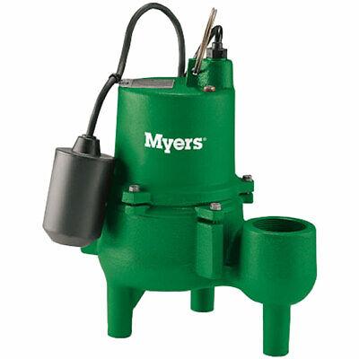 Myers Srm4pc-1 - 410 Hp Cast Iron Sewage Pump 2 W Tether Float Switch