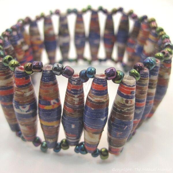 Maasai Market Africa Handmade Jewelry Recycled Paper Masai ...