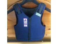 Child's horse or pony riding body protector age7-9 approx