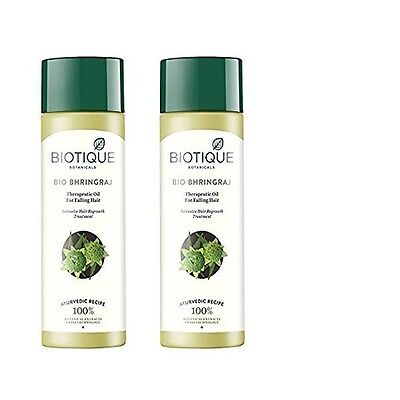 Biotique Bio Bhringraj Therapeutic Oil For Falling Hair  Pack Of 2    120 Ml