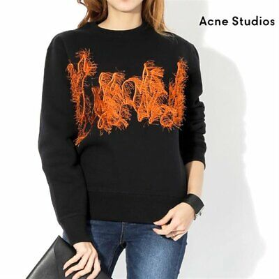Acne Studios Carly Flame Sweatshirt Black S Small