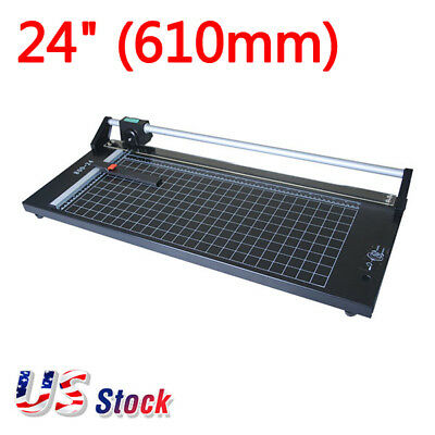 24 Manual Precision Rotary Paper Trimmer Sharp Photo Paper Cutter - Usa Stock
