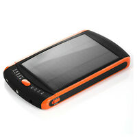 Solar power laptop cell phone battery charger USB LED