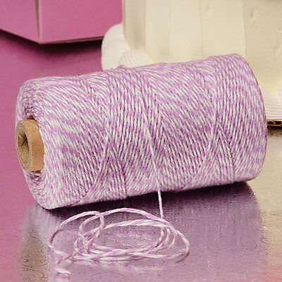 Lavender & White Duo 4-ply 100% Cotton Baker's Twine *Your Choice of Length*](Baker's Twine)