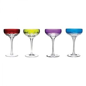 Waterford Crystal Mixology Champagne Coupe Mixed Colours (30% off!) original price of £225