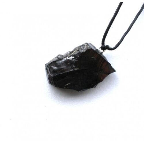 Shungite Pendant Elite Noble Stone Original Healing Crystal Karelia Russia SMALL