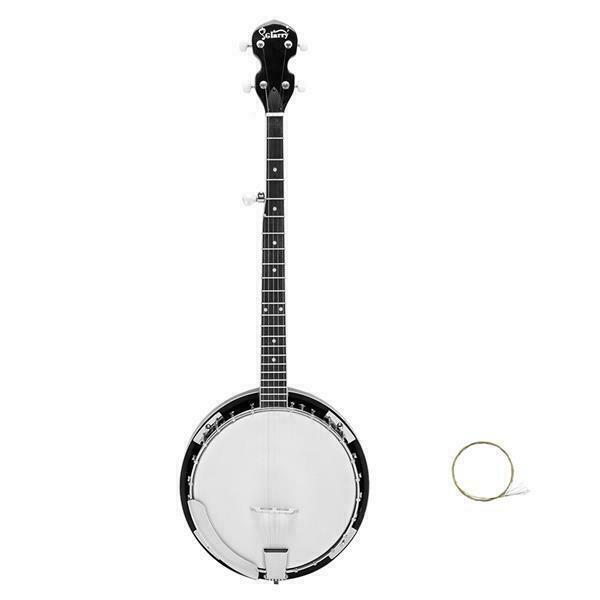 Glarry 5 String Resonator Banjo Reentrant Tuning Right Handed for Beginner Gift