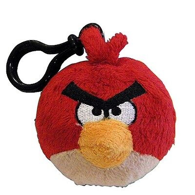 Commonwealth Angry Birds Plush Backpack Clip  Red  92498   90789