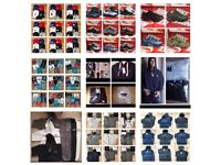 WHOLESALE MENS KIDS WOMEN 3 SET TRACKSUITS TSHIRTS POLO JUMPER JEANS TRAINERS