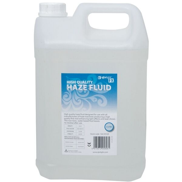 New 5L Bottle Of QTX Light High Quality Haze Fluid 5 Litre Haze Machine Liquid