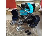 Oyster 2 travel system pram buggy stroller maxi Cosi carrycot ect
