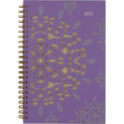 Cambridge Vienna Weeklymonthly Planner 5-12 X 8-12 Purple 2022 122-200