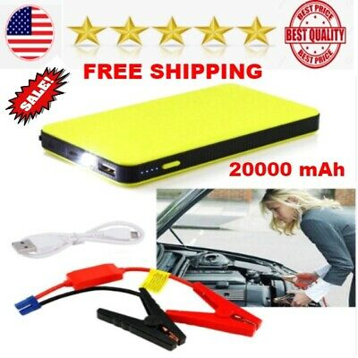 Portable Mini 20000mAh Car Jump Starter Engine Battery Charger Power Bank BEST (Best Car Jump Starter Power Bank)