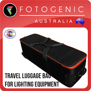 Photography Travel Luggage Roller Case Bag for Studio Lighting Equipment Strobes
