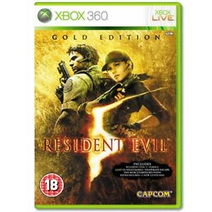 RESIDENT EVIL 5 GOLD EDITION MICROSOFT XBOX 360 GAME BRAND NEW SEALED UK PAL