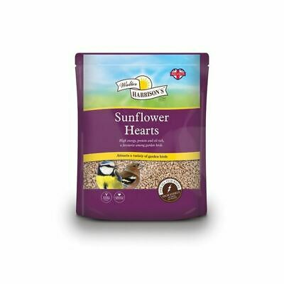 Walter Harrisons Sunflower Hearts Seed High Energy for Garden Variety Birds 2kg