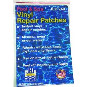 2pk Vinyl Liner Inflatable Underwater Patch Repair Kit Surface Pool Water Toy