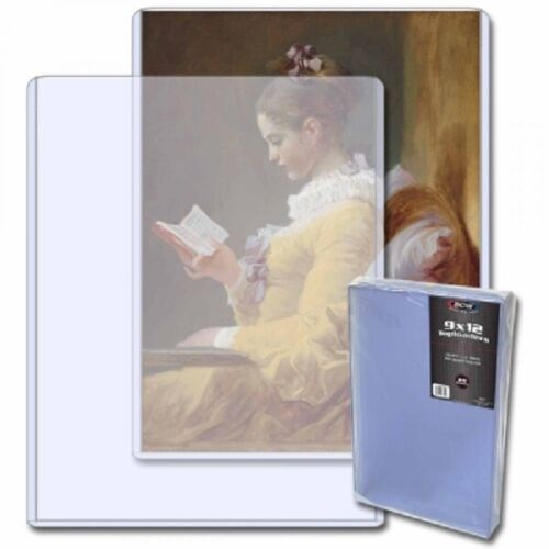 Quality BCW 9x12 Topload For Photographs & Documents Holder Clear PVC Pack of 20