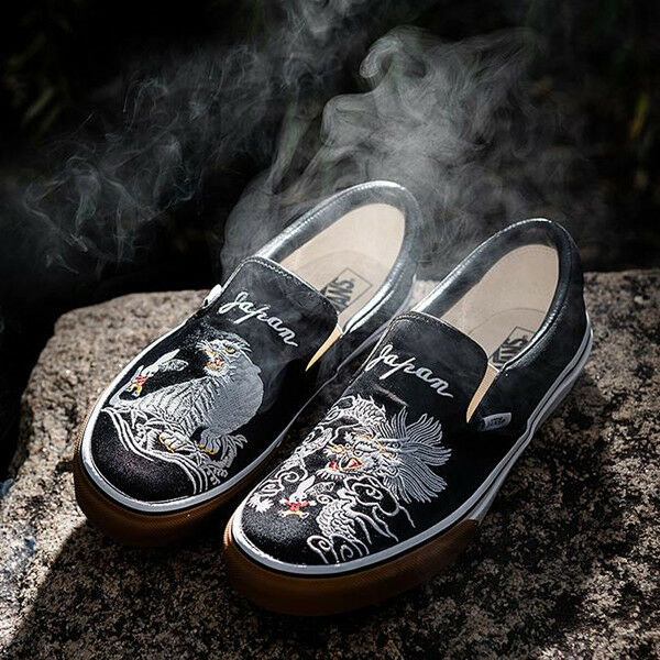 vans slip on tiger