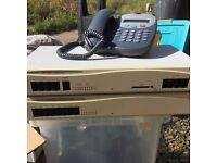 Avaya Telephone System + 4 Telephones