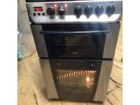 £75 ZANNUSSI ELECTRIC COOKER WITH DOUBLE OVEN