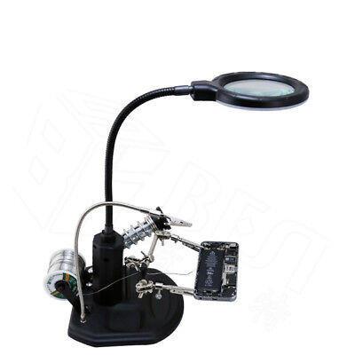 BEST BST-308L LED Lamp 2.5X / 4X Magnifying Glass with Clips - Free
