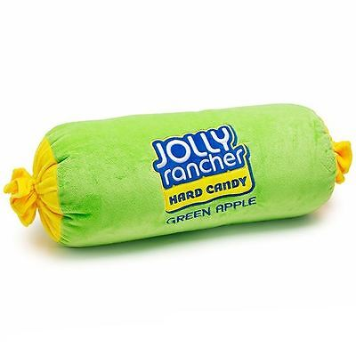 Jolly Rancher Embroidered Plush Pillow Green Apple Cylinder Officially Licensed  Officially Licensed Plush Pillow