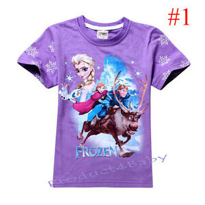 Girl T-shirt Short / Long sleeves Top Frozen Elsa and Anna size: 2.3.4.5.6.7 yrs
