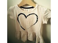 River Island mini girls top, 18-24m