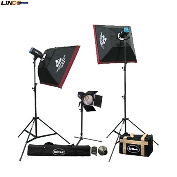 450 w/s 3 Studio Strobe Flash Monolight Kit Softbox for Photo Studio Lighting