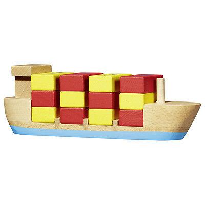 Stapelspiel Ocean Cargo Schiff mit Containern umstapeln Geduldsspiel Steckspiel