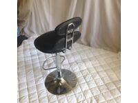 Kitchen bar stool black leather