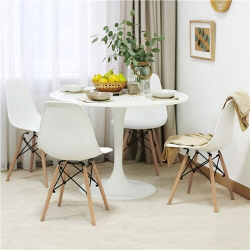 Dining Chairs with Beech Wood Legs and Metal Wires Kitchen Bedroom Living Room
