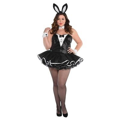 Adult Playful Bunny Tuxedo Plus Size Costume Ladies Fancy Dress Outfit 16-18 - Playboy Bunny Costume Plus Size