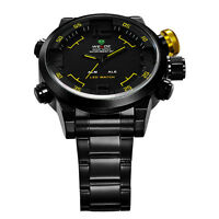 WEIDE Military  Stainless Steel Watch Outdoor Sports Digital bra