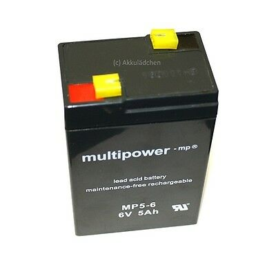5Ah ! Blei-Gel Akku 6V für Kinder Elektro Traktor John Deere Power Accu Batterie ()
