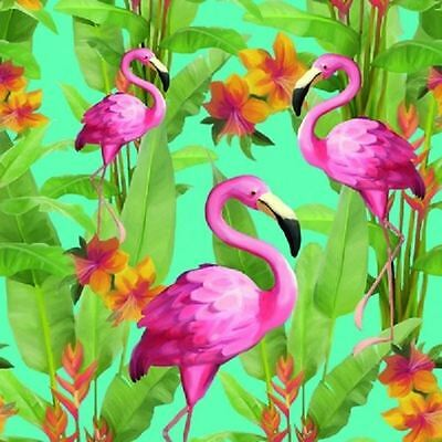 4 x Paper Napkins - Flamingo Tropics - Ideal for Decoupage / Napkin Art