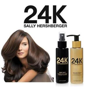 NEW 2PC VOLUME  SMOOTH SET 139720961 SALLY HERSHBERGER 24K HAIR CARE ROOT ENVY GOLDEN TOUCH 125ML EA