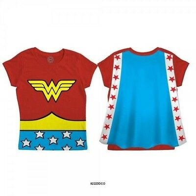 DC Comics Wonder Woman Officially Licensed Toddler's Red Caped Tee T-Shirt (Wonder Woman Caped T Shirt)