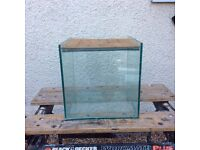 All glass cube aquarium vivarium fish tank