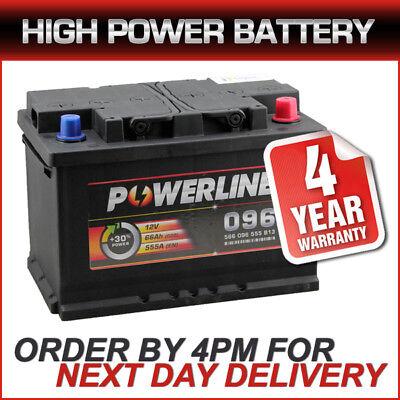 096 Powerline Car Battery 12V 66AH 610A - 4 YEAR WARRANTY MORE POWER