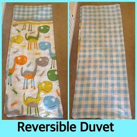 Reversible Cotbed Duvet Set